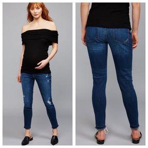 DL1961 Jess Distressed Maternity Skinny Jeans 28